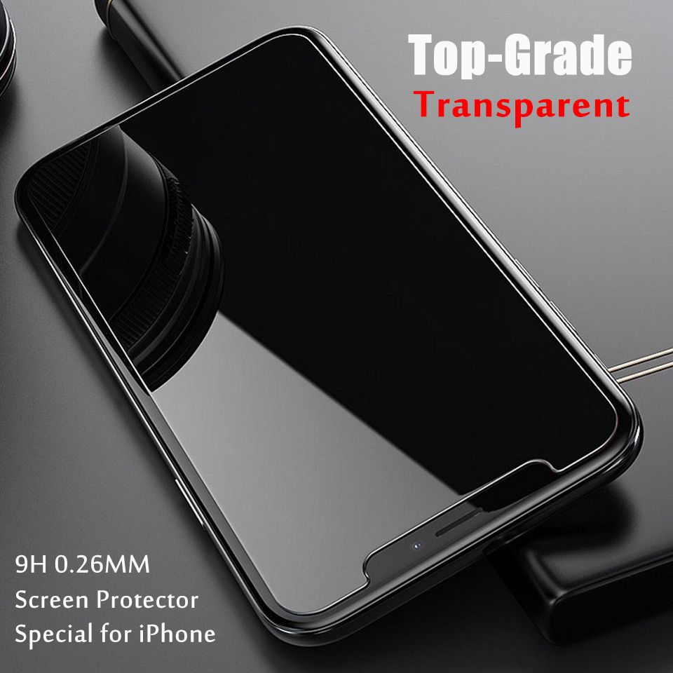 0.26mm Protective Glass for iPhone 6 6s 7 8 X 11 Glass Screen Protector for iPhone 11 Pro 8 7 6 Plus XR X XS Max Tempered Glass