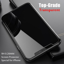 0.26mm Protective Glass for iPhone 6 6s 7 8 X 11 Glass Screen Protector for iPhone 11 Pro 8 7 6 Plus XR X XS Max Tempered Glass(China)