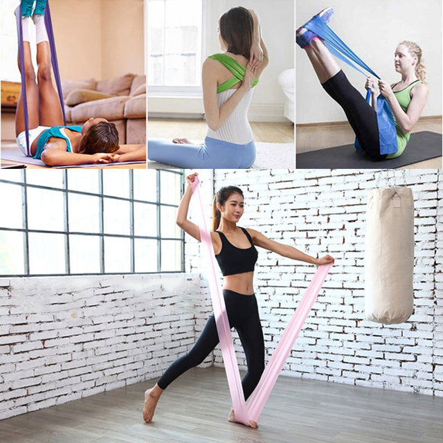 2020 Yoga Tension Band Fitness Equipment Training Resistance Bands Rubber Yoga Fitness Tension  Sport Training Equipment 6
