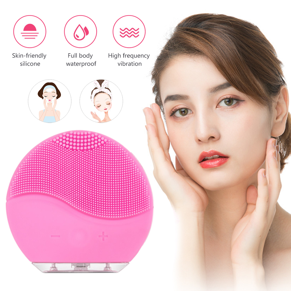 DIDIHOU Electric Vibration Facial Cleansing Brush Skin Remove Blackhead Pore Cleanser Waterproof Silicone Face Massager Washing