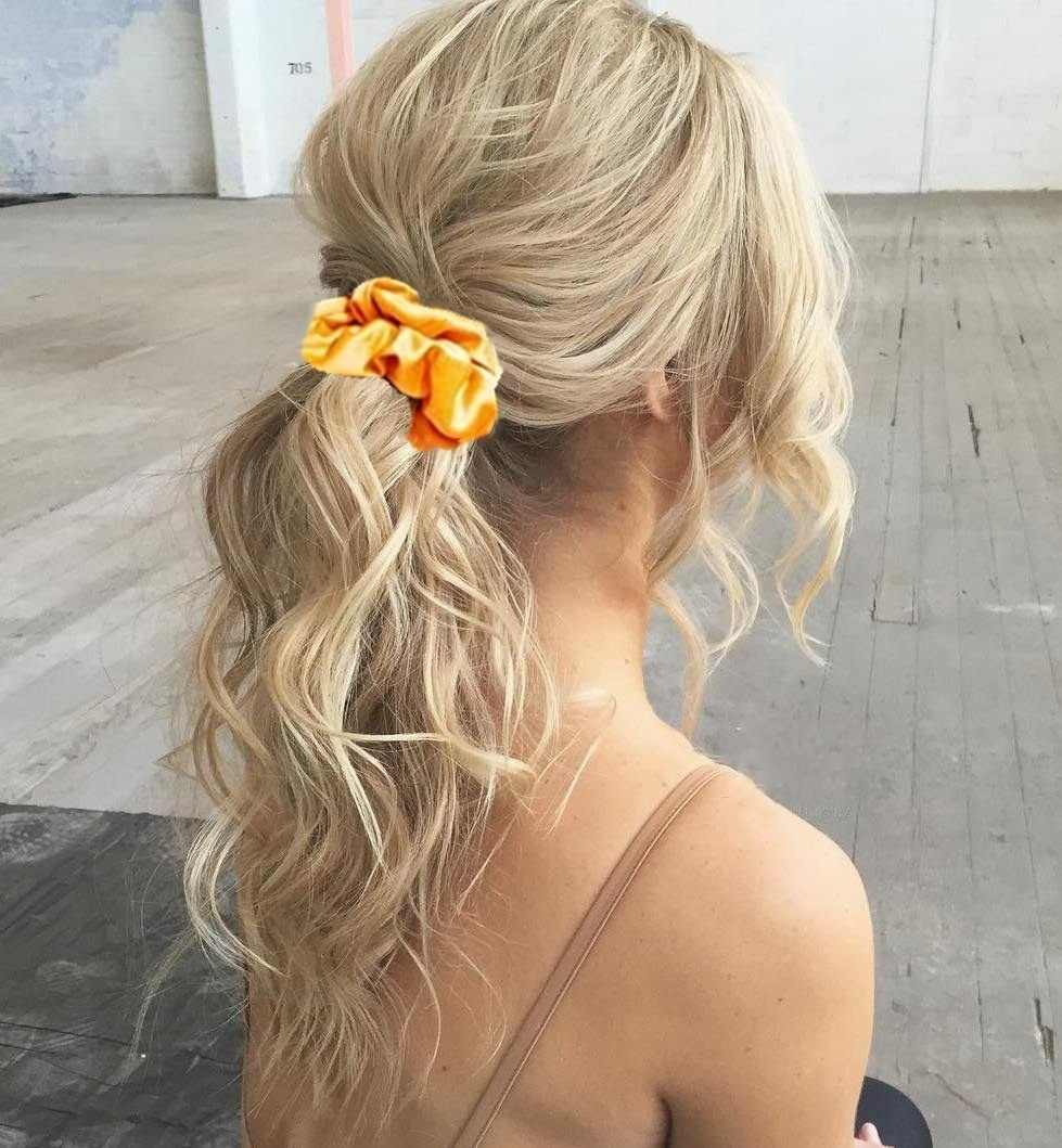 6 個ファッション女性カラフルな Scrunchies 弾性ブロンズ髪のロープポニーテールホルダーグリッターシュシュロットヘアアクセサリー