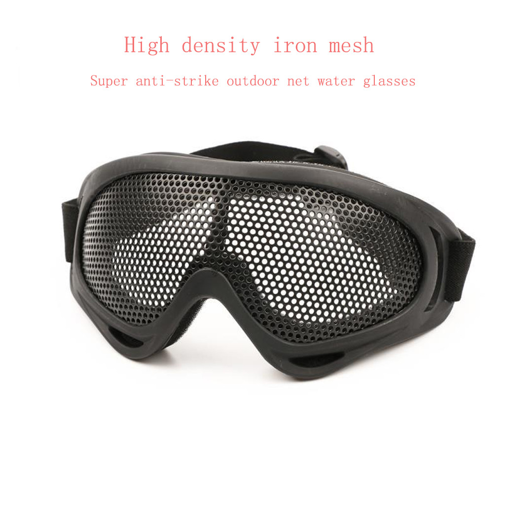 Outdoor Eye Protection Airsoft Tactical Glasses Goggles Anti Fog Metal Mesh