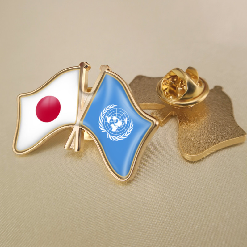 Sweden Waving Friendship Flag Metal Lapel Pin United Nations Badge Pin-Back Tie