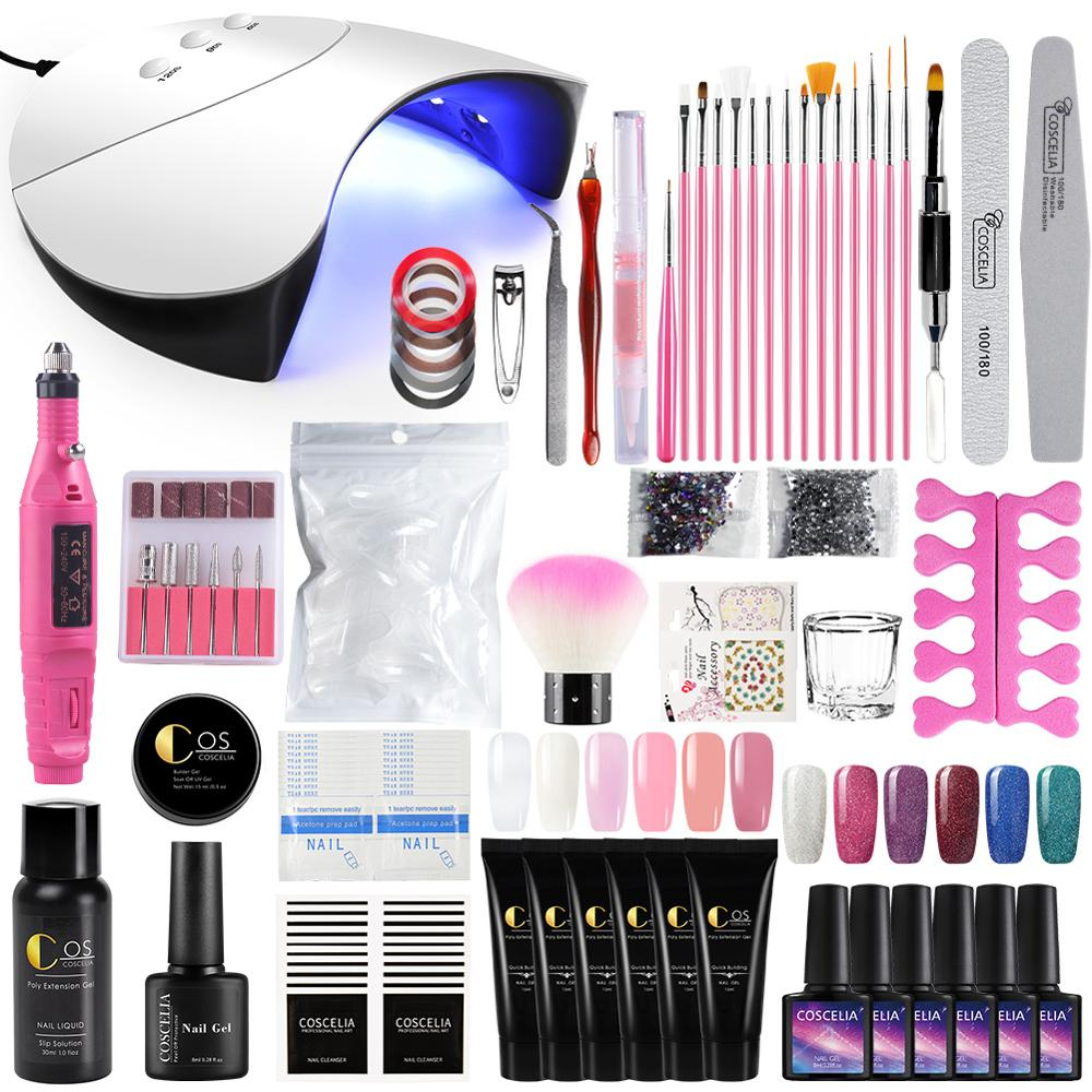 Nail Set 36W Led UV Nail Lamp Dryer Gel Kit Soak Off Manicure Gel Nail Polish Set UV Extension Kit For Manicure