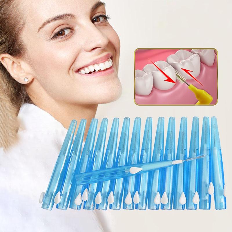 Tackore Orthodontic interdental brush Interdental Brush Dental Flosser Toothpick Sticks Teeth Cleaning Oral Care