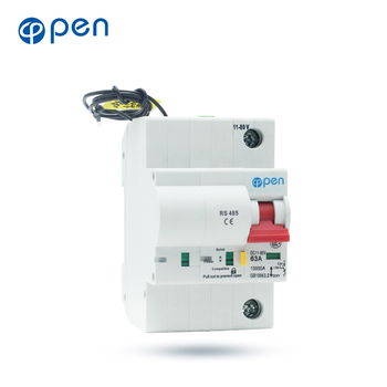 OPEN 1P DC  Circuit Breaker with RS485 Communication Interface overload/ short circuit protection open 1p 40a remote control wifi circuit breaker smart switch intelligent automatic recloser overload short circuit protection