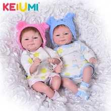 цена KEIUMI Lifelike 17 Inch Baby Doll Toy 42cm Silicone Reborn Babies Doll Girl Boy Open Eye Twin Toddler Birthday Gift Bedtime Play онлайн в 2017 году