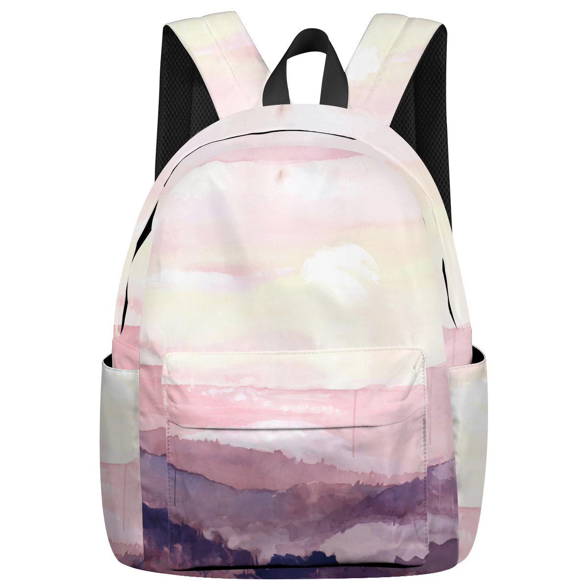 Abstract Watercolor Style George Washington's Birthday Junior High School Student Tactical Backpacks Notebook Backpack Laptop