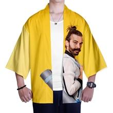 jonathan van ness  Oversize Japanese Kimono Men Samurai Costume Clothing Loose  Clothes Male Casual Outerwear
