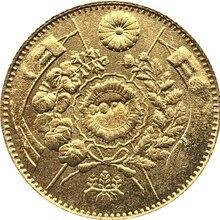 Япония 1 Yen-Meiji 4,7, 9,10, 13,25 лет копия монет 13,5 мм позолоченный