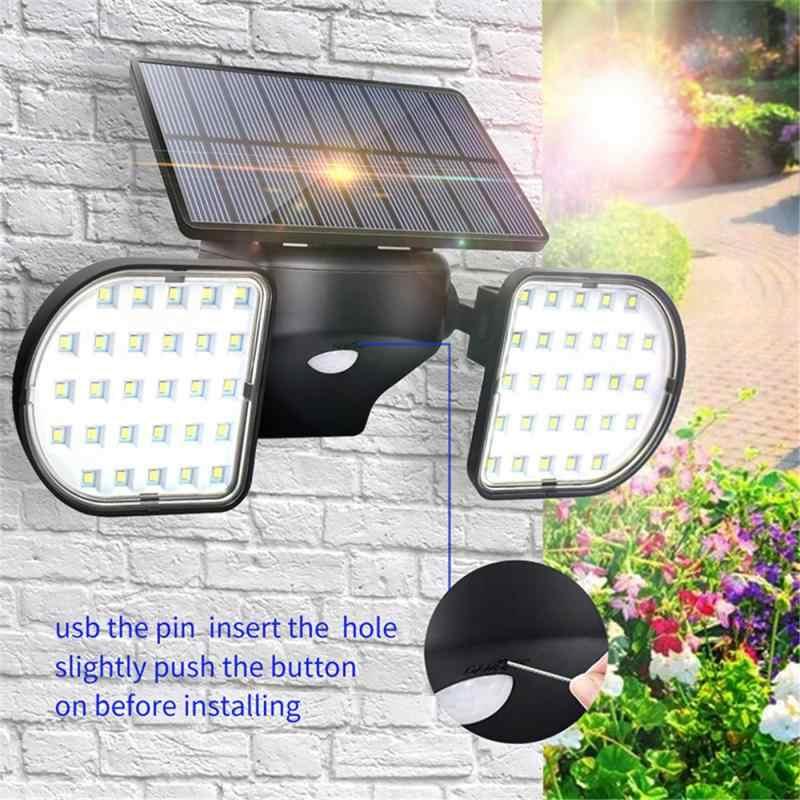 Solar Lampu Sorot Outdoor Sensor Gerak Lampu Dinding Lampu Tahan Air Lampu Taman Lampu Sorot Taman Lorong Lampu Dinding Dropship Lampu Surya Aliexpress
