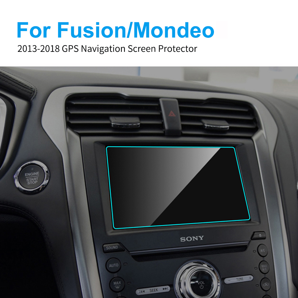 Car GPS Navigation Screen Protector For Ford Fusion Mondeo Car Display Screen Tempered Glass Protective Film Auto Accessories