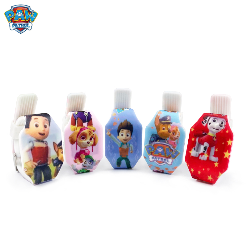 Paw Patrol Cartoon Figure Watch Toy Child Electronic LED Luminous Watch Paw Everest PVC Material Strap Child Birthday Gift