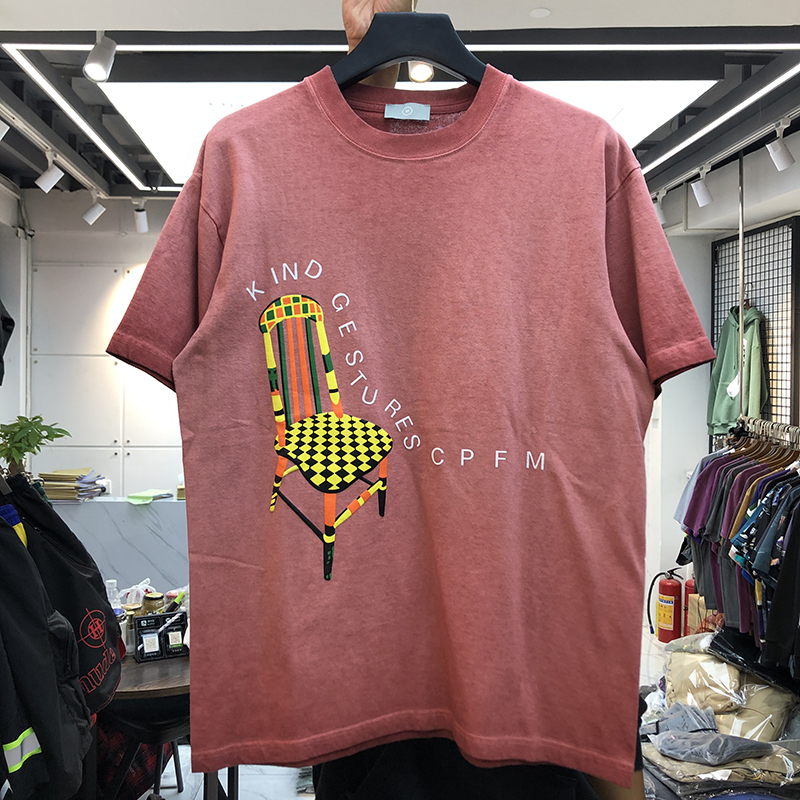 2020 CPFM T-shirt Men Women Casual T-shirts Kanye West Tee KIND GESTURES CPFM Tops Chair Logo Print Vintage Short Sleeve