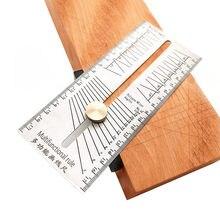 Obróbka drewna Scribe Miter linijka kątowa ze stali nierdzewnej znakowanie jaskółczy ogon Jig Marking Gauge wielokąt skos kąty znakowanie t-linijka