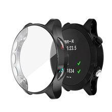 Capa protetora de tela para relógio inteligente garmin forerunner 935 945, película tpu macio ultrafina hd transparente concha à prova de choque