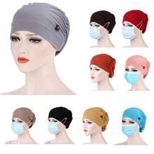 Mulheres muçulmana longa cauda cachecol chapéu turbante perda cachecol elástico senhora câncer quimio chapéu queda de cabelo cabeça cachecol envoltório caps