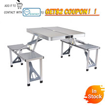Delivery normal Outdoor Folding Table Chair Camping Aluminium Alloy Picnic Table Waterproof Ultra light Durable Folding