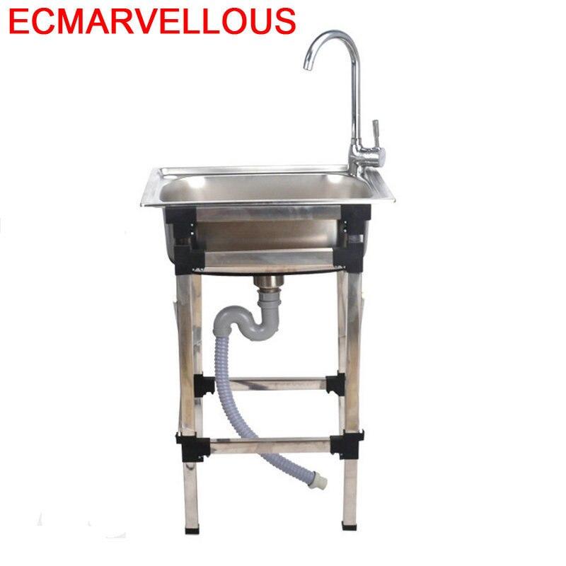 Banheiro Evier Integral Portable Dissipador Lavello Faucet Afwasbak Lavabo De Cocina Fregadero Cuba Pia Cozinha Kitchen Sink