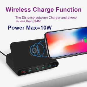 Image 5 - Tongdaytech 60W Qi Wireless Charger For Iphone 11 X XS MAX Multi USB Cargador Quick Charge 3.0 Fast Chargeur For Samsung S9 S8