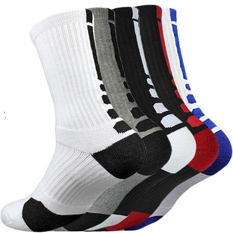 5 пар, мужские спортивные носки с Демпфированием, махровые, баскетбольные, велосипедные, беговые, Пешие прогулки, теннис, набор носков, для ка...
