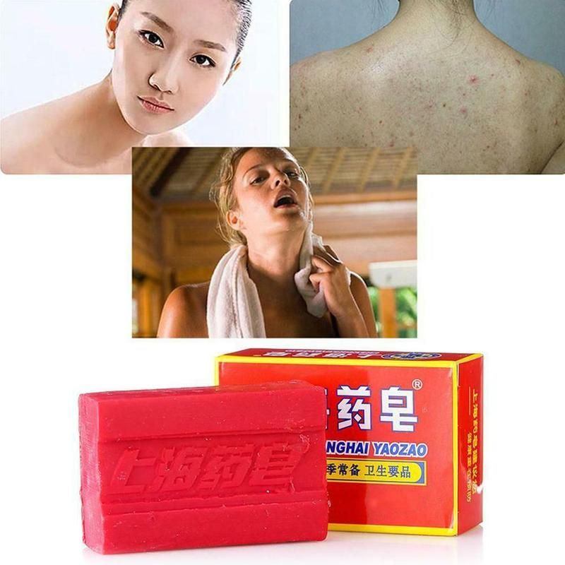 90g Acarid-Removing Sulphur Soap Chinese Herbal Medicine Fat-Free Soap Safe Beauty Effective Slimming Bath White Y5X5