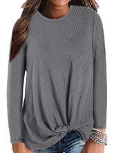 Women's Casual Tank Top Sleeveless Blouse Twist Knot Waffle Knit Shirts Cute Tops casual twist blouse