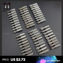 10 Teile/los 25mm CR V PZ/PH Pozidrive Phillips Bits Hex Shanked Anti Slip Schraubendreher Bits Magnetische Einzigen Kopf PZ1 PZ2 PZ3 6,35mm