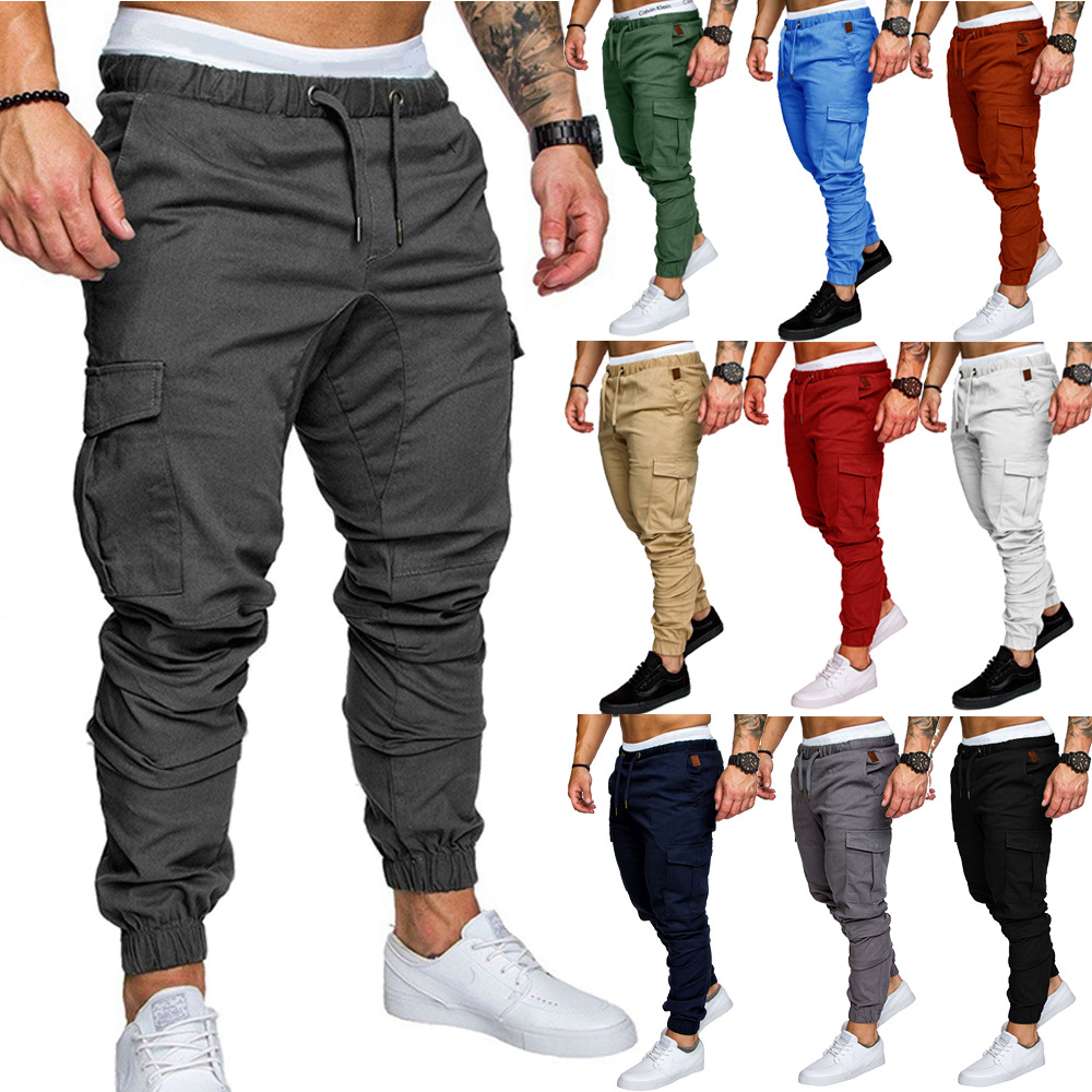 2019 Large Size New Style Hot Selling Men's Casual With Drawstring Elastic Sports Baggy Pants Trousers