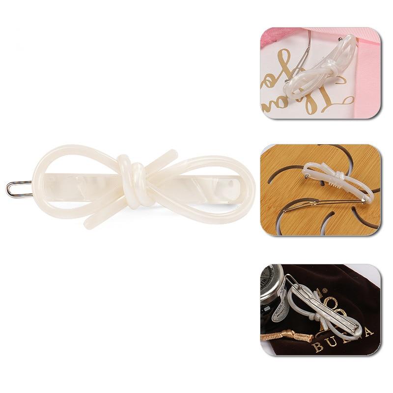 Pines Multicolor de acetato de celulosa con lazo para niña, pasadores de pelo con lazo a la moda, regalos, pinzas para el cabello