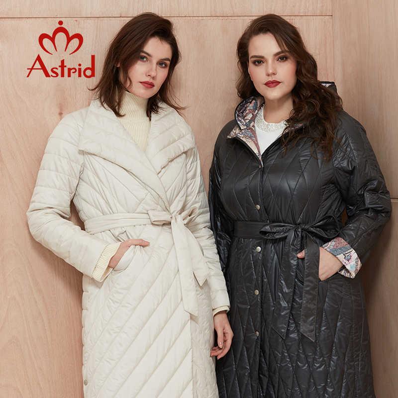Astrid 2020 새로운 도착 봄 클래식 스타일 길이 여성 코트 따뜻한 코 튼 자 켓 패션 파 카 고품질 Outwear ZM-7091