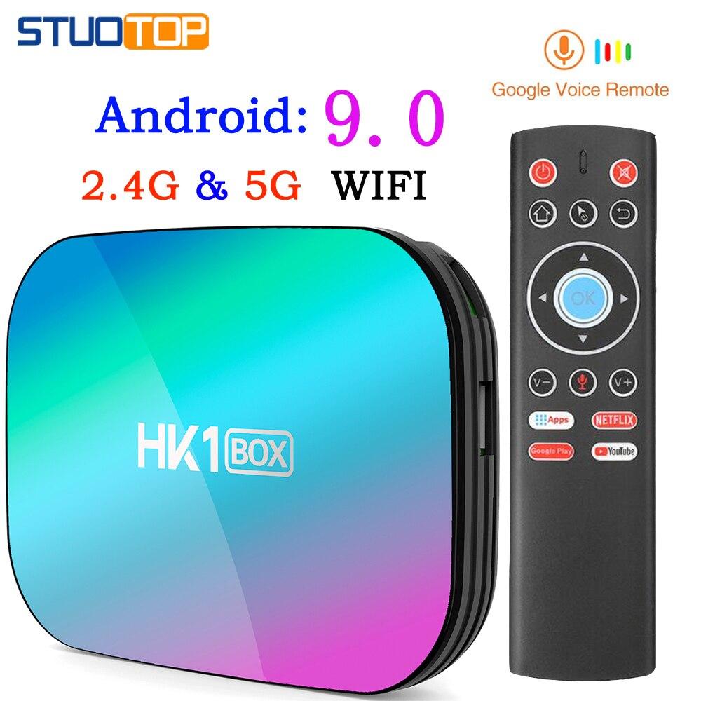 HK1Box amlogic S905X3 8K 4GB RAM 64GB 128GB Android TV Box 9,0 Set Top Box Dual wiFi 1000m 4K YouTube Netflix mini Smart TV Box
