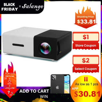 Salange YG300 Mini Projector LED Projector Lcd Projetor Audio HDMI USB Mini YG-300 Proyector Home Theater Media Player Beamer - Category 🛒 Consumer Electronics