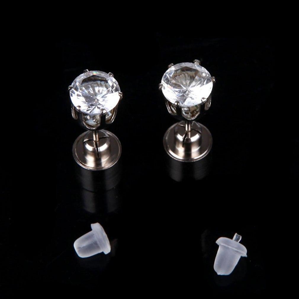 Light Up LED Bling Ear Studs LED lamp Luminous Stud Earrings Dance Party red
