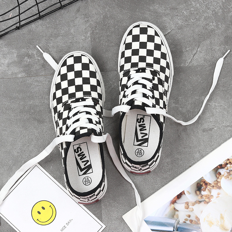 Chunky-Sneakers Platform-Shoes Checkerboard Designer Casual Fashion Women Woman's Canvas