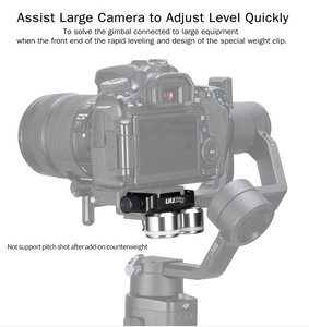 Image 2 - UURig R025 DSLR Gimbal משקל נגד מהיר קליפ עבור Dji ללא מעצורים S SC Zhiyun Feiyu AK2000 AK4000 דלפק משקל עבור BMCC 4K 8K