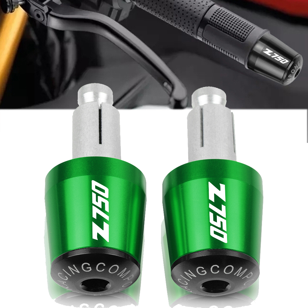 Motorcycle Accessories 7/8 22MM Handlebar Hand Grips Handle Bar End Cap For KAWASAKI Z750 Z 750 2007 2008 2009 2010 2011 2012 image