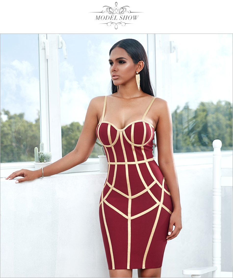 Ha45e826dfb93442a82925fca6d9677401 - Adyce New Summer Bodycon Bandage Dress Women Vestido Sexy Spaghetti Strap Sleeveless Club Hot Celebrity Evening Party Dress