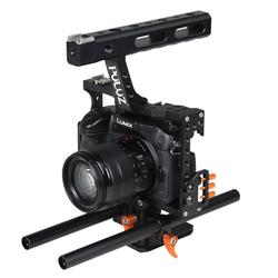 Rod Rig DSLR Camera Video Cage Kit Stabilizer+Top Handle Grip for Sony A7 A7S A7R A7R II A7S II Panasonic Lumix DMC-GH4