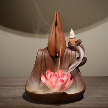 New Backflow Incense Burner Purple Sand Creative Bergamot Lotus Aromatherapy Home Interior Viewing Ornaments Aromatic Furnace