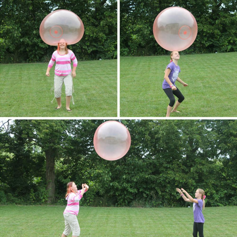 35/60/100CM Outdoor Soft Air Water Filled Bubbles Ball Blow Up Balloon Toy Fun party game gift for kids inflatable funny balls