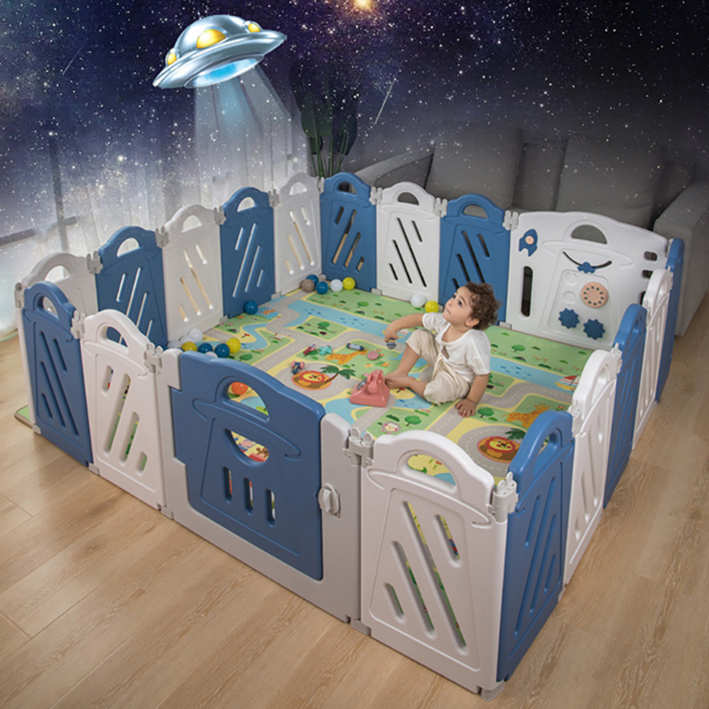 Playpen For Toddlers 18-Panel Home Indoor Baby Safety Play Yard Baby Fence Kids Activity Centre Playground Safety Protection