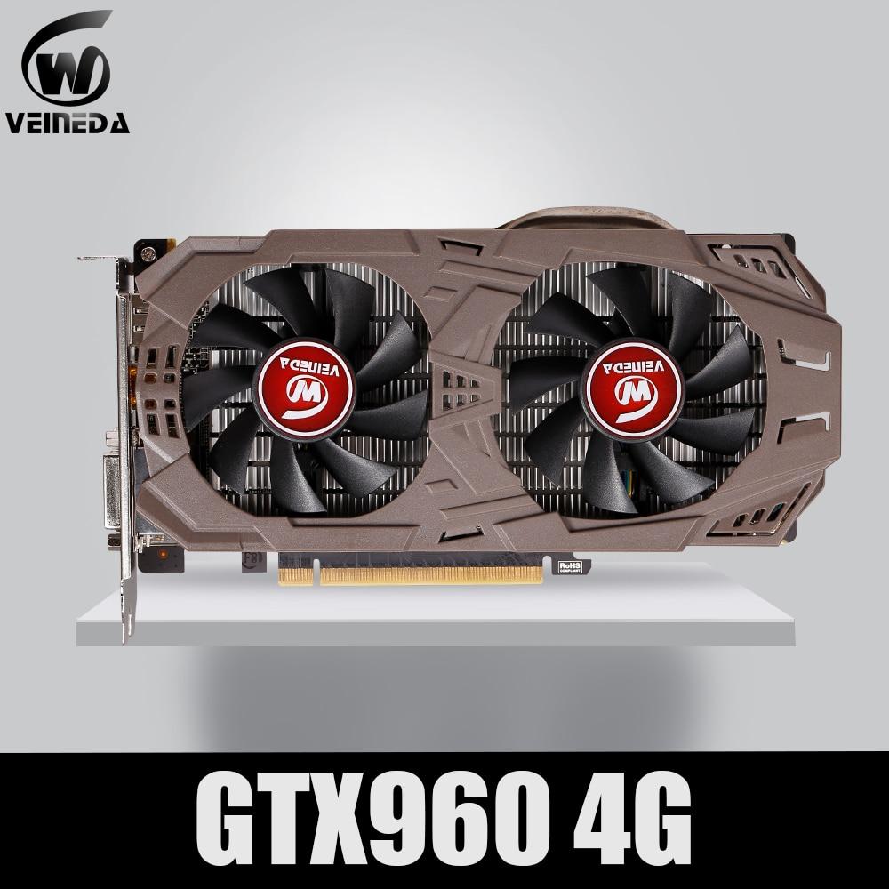 VEINEDA PC Video Card Original GTX 960 4GB 128Bit GDDR5 Graphics Cards for nVIDIA VGA Cards Geforce GTX960 4gb  Dvi game 1