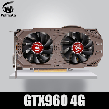 VEINEDA PC Video Card Original GTX 960 4GB 128Bit GDDR5 Graphics Cards for nVIDIA VGA Cards Geforce GTX960 4gb  Dvi game 1