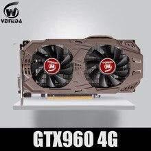Veineda placa de vídeo original gtx 960 4gb 128bit gddr5 placas gráficas para nvidia placas vga geforce gtx960 4gb dvi jogo