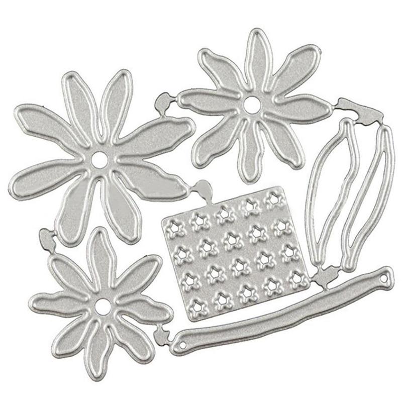 3D Flower Metal Cutting Dies Cut Die Mold  Flowers Daisy Dies Cut Stencil Scrapbooking Photo Album Card Paper Embossing Craft