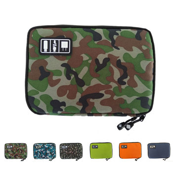 Mobile Phone Data Cable Headset Charger Carring Case Travel Waterproof Storage Bag Power Bank Pouch Earphone Zipper Wallet - discount item  40% OFF Special Purpose Bags