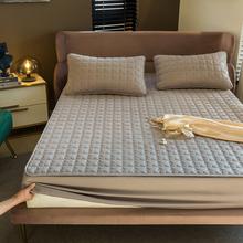 100 bawełna przepuszczalna dla powietrza wełna pikowana pokrycie materaca regulowane elastyczne paski dopasowane prześcieradło miękkie prześcieradło można prać w pralce King tanie tanio Feng Yu Qing CN (pochodzenie) JM-quilted sheet 1 5kg Dopasowująca się narzuta 400tc Kwalifikacje Stałe W jednym kolorze