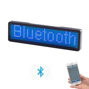 Image 4 - Bluetooth programmierbare LED name abzeichen 7 farben LED und 9 farben fall mit magnet und pin für event cafe bar restaurant expo zeigen