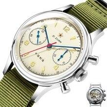 1963 pilotes de larmée de lair chinoise chronographe montres Original mouette mouvement st1901 saphir horloge hommes montre bracelet mécanique